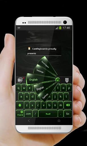 黑色和绿色 GO Keyboard