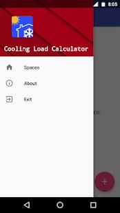 Cooling Load Calculator - náhled