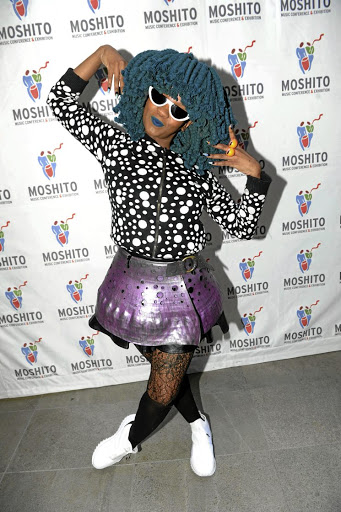 Moonchild Sanelly during the Moshito music conference media launch on August 2 in Johannesburg.