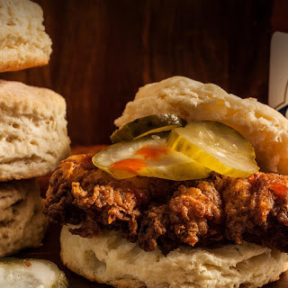 Fried Chicken Biscuit Sandwiches.