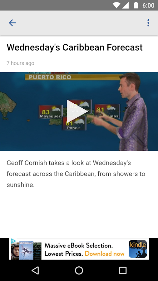 Caribbean Television Weather- screenshot