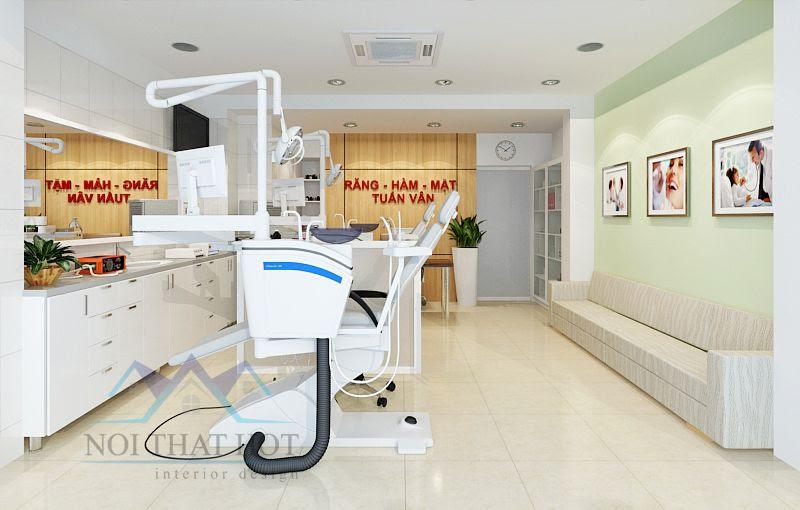 thiết kế phòng khám thoáng và sạch