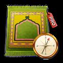 Temps de Prières Qibla Pro icon