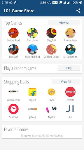 101 Game Store - Free Mini Games (needs internet) 4.1 screenshots 1