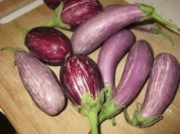 Remove Stems from a few Baby Eggplants