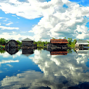 Village in the clouds by Niin Peweel - Landscapes Cloud Formations ( cloud, landscapes )
