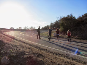 Photo: Trail users arriving from Colby Trail and continuing on