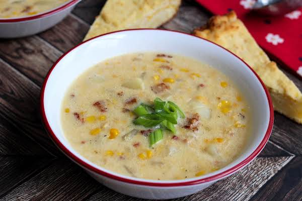 A Bowl Of Janny's Corn Chowder.