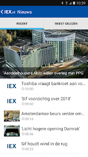 IEX.nl Beleggingsinformatie- screenshot thumbnail
