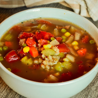 Slow Cooker Beef Barley Soup.