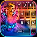 Fluorescent Neon Tiger Keyboard Theme icon