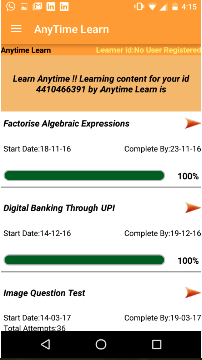 Anytime Learn- screenshot