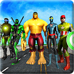 Superheroes vs Robots Battle - Zombie Aliens Fight Icon