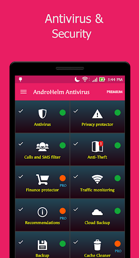 アンチウイルスの Android