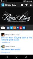 Screenshot of Rinoa's Diary