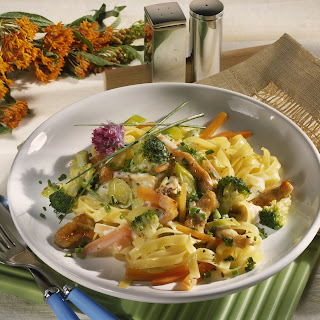 Penne mit Champignon-Broccolisauce