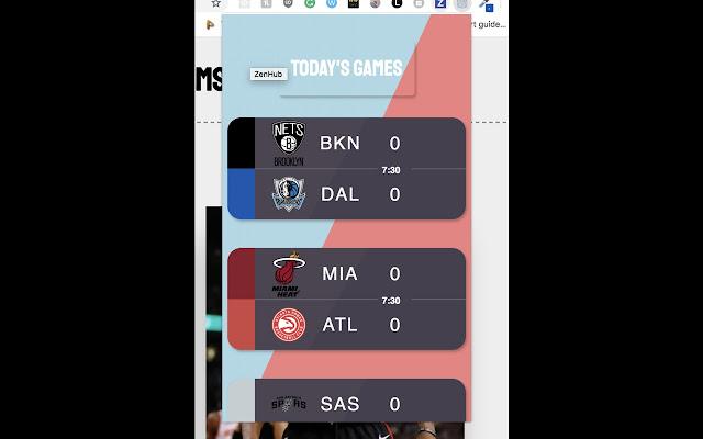 NBA game alert