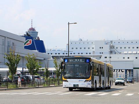 西日本鉄道 福岡都心連節バス 0101 博多港国際ターミナル付近にて その3