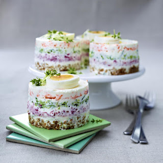 Cream Cheese and Vegetable Stack.