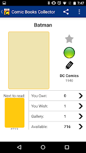 Comic Books Collector screenshot 1