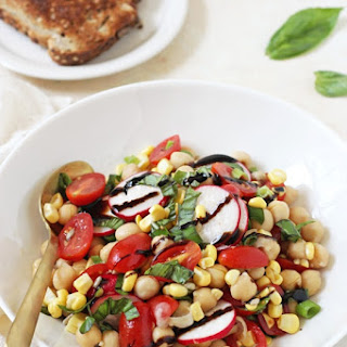 Garden Veggie Balsamic Chickpea Salad.