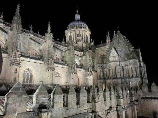 Spain-Salamanca-cathedral - The New Cathedral, one of two major cathedrals in Salamanca, Spain, dates from the 16th century. See it on a cruise on the Douro River.