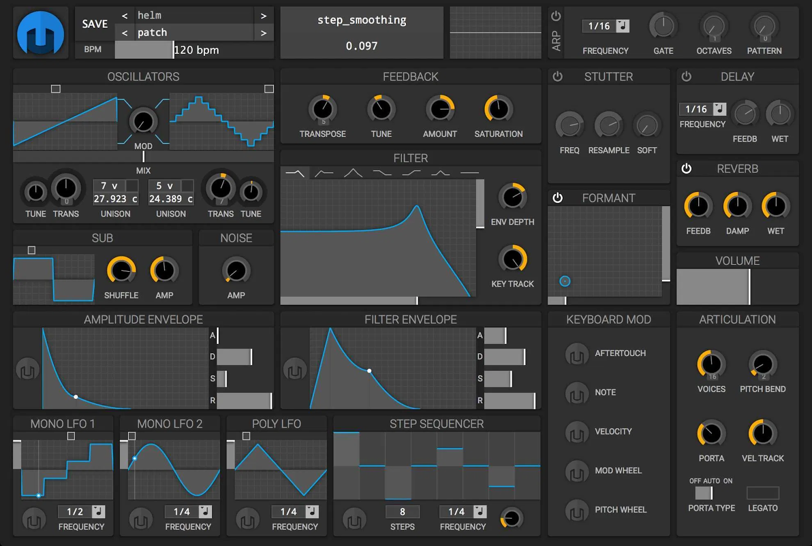 vst instruments free subtractive synth helm