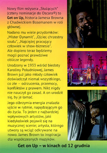 Tył ulotki filmu 'Get On Up'