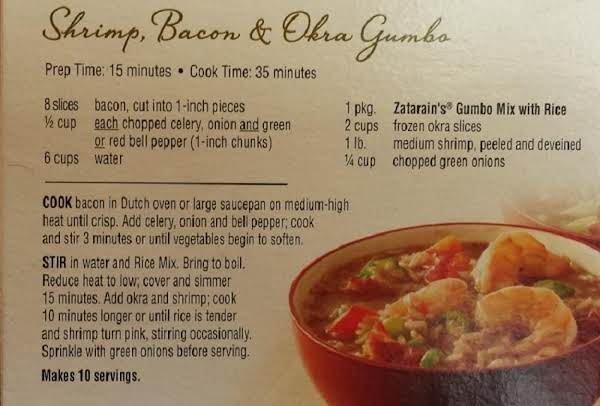 Shrimp & Bacon Gumbo Recipe