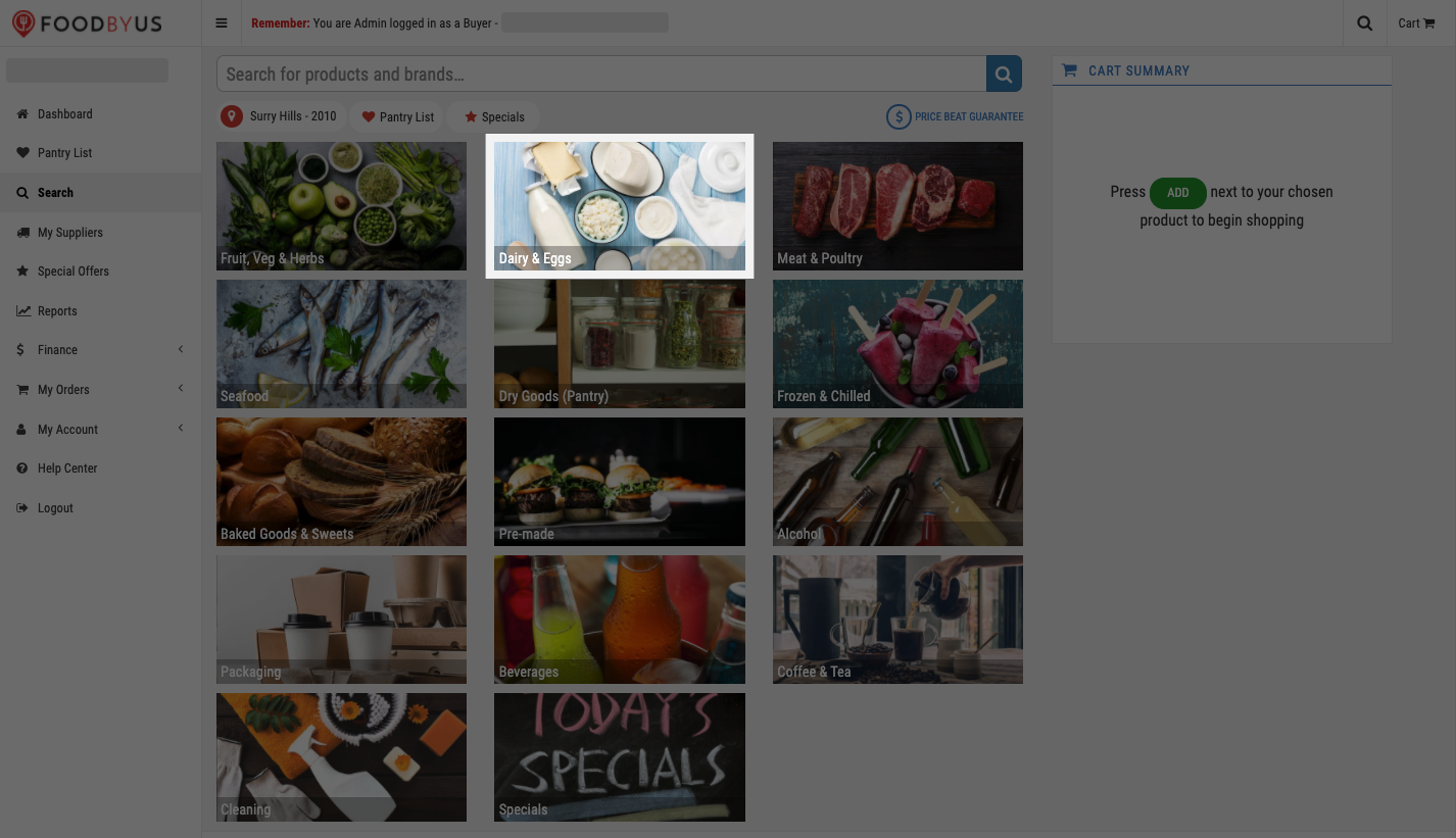 FoodByUs_dashboard_search_marketplace_choose_dairy_and_eggs