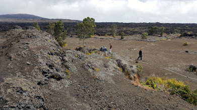 Photo: Fissure from the spatter rampart.