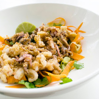 Salt and Pepper Squid with Cucumber Salad