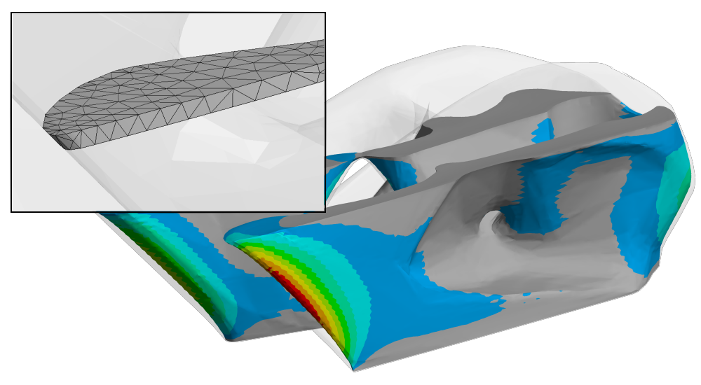 ANSYS | Послойная тетраэдрическая сетка позволяет более точно описать исходную геометрию