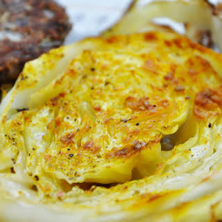 Oven Roasted Cabbage Slices.