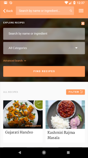 Screenshot for Maunika Gowardhan's Indian Recipes in United States Play Store