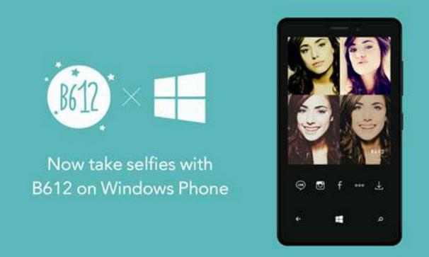 B612- camera selfie pentru Windows Phone