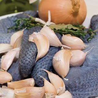 Silkie Blue-Black Chicken with Silky Garlic