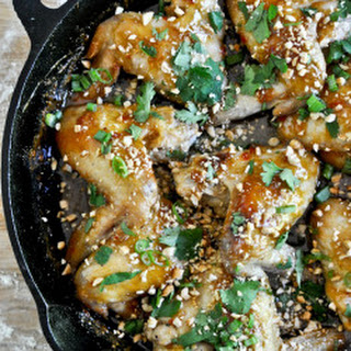Sticky Thai Chicken Wings.