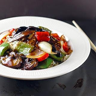 """{Recipe} Chinese Portabello Pepper """"Steak""""."""