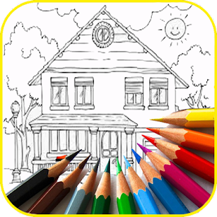 Best Coloring House Book - náhled