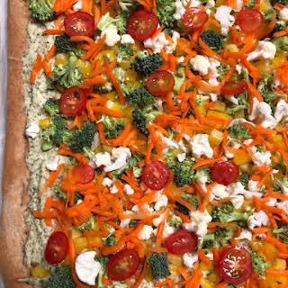 Vegetable Ranch Appetizer Pizza.
