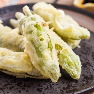 Shishito Tempura (Japanese Fried Shishito Peppers).