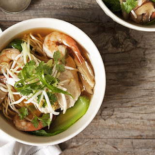 Asian Chicken and Shrimp Soup.