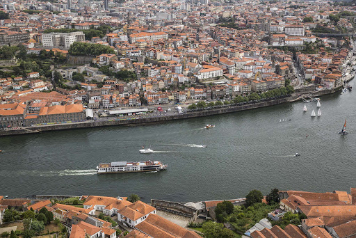 AmaVida cruising along the Douro River in Portugal.