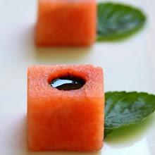 Photo: cocomero e aceto balsamico
