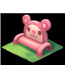 ピンクのクマベンチ