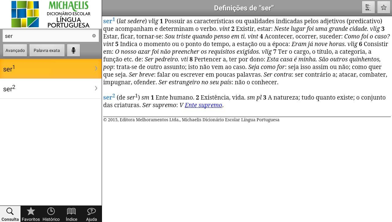 Michaelis Escolar Português- screenshot
