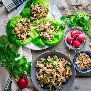 Easy Sesame Chicken Lettuce Wraps.