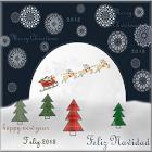 Navidad y año nuevo 2018 icon