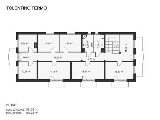 Tolentino Termo - Rzut piętra